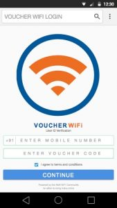 WiFi Authentication User ID Verification with voucher access code